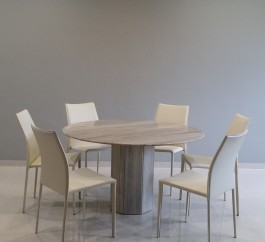 Zebrano Venato Round Marble Dining Table