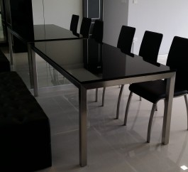 Black Galaxy Granite Table
