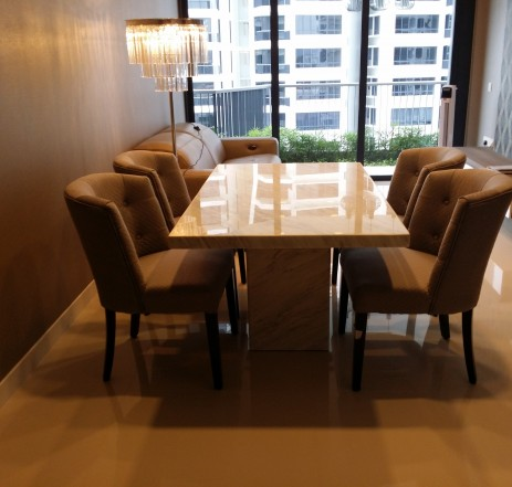 6 Seater Marble Table