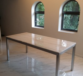 Crystal Gold Marble Table
