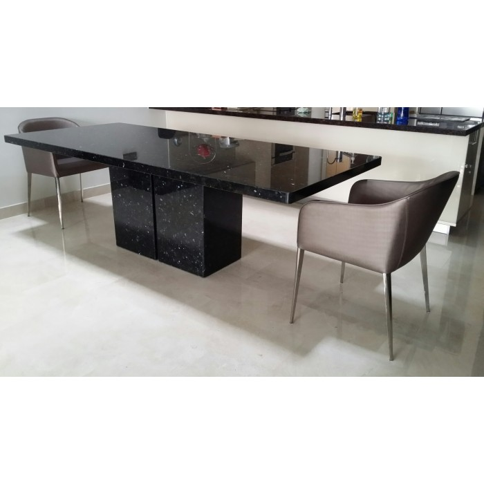 Emerald pearl granite table for Custom made marble dining tables