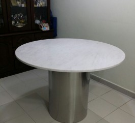 Italian Bianco Carrara Marble Table