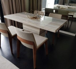 Zebrano Venato Dining Table