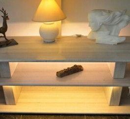 Marble TV Console Table