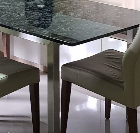 KAZASTHAN BLUE NATURAL GRANITE TOP WITH 304G STAINLESS STEEL LEG