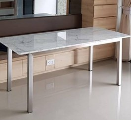 MARBLE TOP WITH 304G STAINLESS STEEL LEG