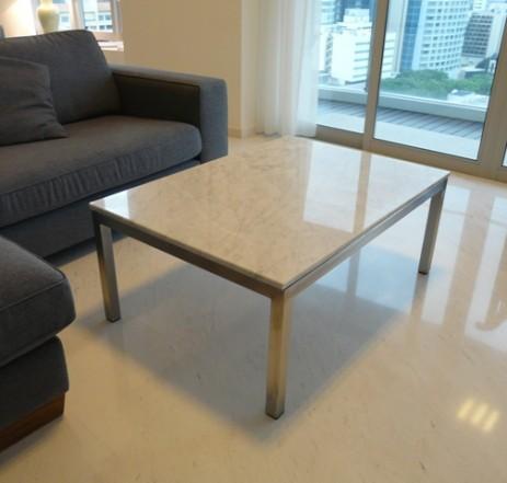 Bianco Carrara Marble Coffee Table
