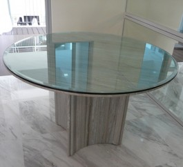 4' Dia. Zebrano Venato Marble Table