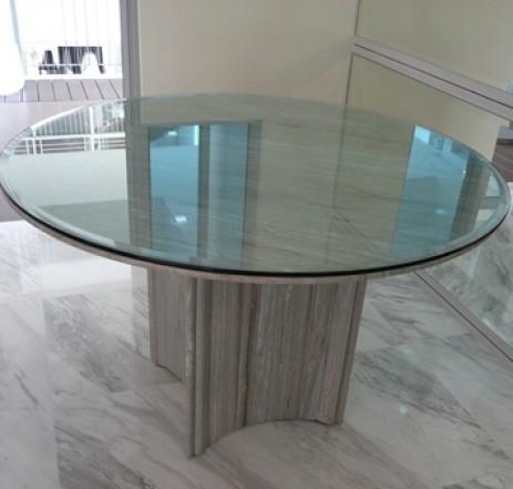 4' Dia. Zebrano Venato Marble Table